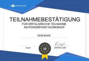 PowerPoint Zertifikat für die PowerPoint Schulung